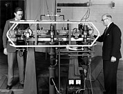 Resonator Metal Prints - Caesium Atomic Clock, 1956 Metal Print by National Physical Laboratory (c) Crown Copyright