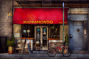 Cafe - Ny - Chelsea - Mappamondo  Print by Mike Savad