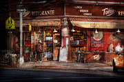 Cafe - Ny - Chelsea - Tello Ristorante Print by Mike Savad