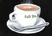 Cafe Au Lait Print by Elaine Hodges