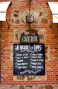 Menu Photo Framed Prints - Cafe Bar Framed Print by Sophie Vigneault
