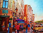 Cafes Painting Originals - Cafe Creme by Carole Spandau