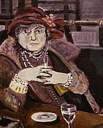 Johnkeaton Paintings - Cafe Dame 1 by John Keaton