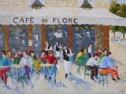 South Of France Framed Prints - Cafe de Flore Paris France Framed Print by Frederic Payet