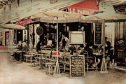 Paris Cafe Scene Posters - Cafe De Paris Poster by Claudia Moeckel
