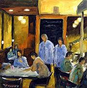 Moonlight Paintings - Cafe des artistes by Richard T Pranke
