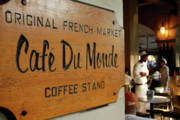 Waiter Metal Prints - Cafe Du Monde Metal Print by KG Thienemann