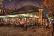 Night Cafe Digital Art Framed Prints - Cafe Du Monde Framed Print by Steve Ellenburg