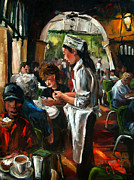 Donuts Painting Originals - Cafe DuMonde by Carole Foret