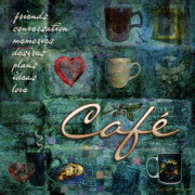 Morning Digital Art - Cafe by Evie Cook