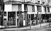 Outdoor Cafe Photo Prints - Cafe Exterieur Print by John Rizzuto