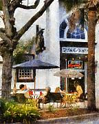 Conversing Prints - Cafe Print by Francesa Miller
