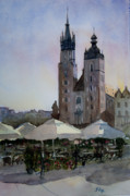 Krakow Originals - Cafe in Main Square Krakow by John Cox