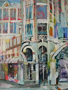 Location Near The Seine River Paintings - Cafe in Paris by Carol Mangano