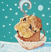 Lisa Kramer Mixed Media - Cafe Java and Blueberry Muffin  by Lisa Kramer