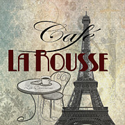 Dine Prints - Cafe LaRouse Print by Greg Sharpe