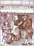 Cafe Menu Print by Herb Russel