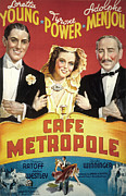 Loretta Posters - Cafe Metropole, Tyrone Power, Loretta Poster by Everett