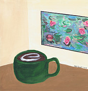 Coffee Cup Prints - Cafe Monet Print by Beth  Cornell
