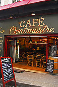 Cafe Montmartre Print by Bob and Nancy Kendrick