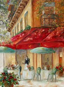 Scenery Painting Posters - Cafe Paris Poster by Chris Brandley