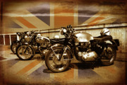 Bsa Photos - Cafe Racers by Brian Middleton