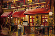 Bistro Paintings - Cafe sans Souci by Sheila Kinsey