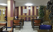 Cafeteria Photo Prints - Cafe Seating Print by Magomed Magomedagaev