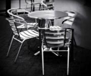 Dine Prints - Cafe seating Print by Perry Webster