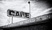 Black Pole Framed Prints - Cafe Signage Framed Print by Ron Regalado