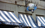 Entrance Shop Front Prints - Cafe St. Paul - Montreal Print by Frank Romeo