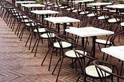 Life In Italy Prints - Cafe Tables and Chairs Print by Jeremy Woodhouse