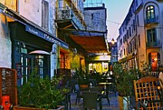 Place Du Forum Prints - Cafe Terrace on the Place du Forum Print by Eric Tressler