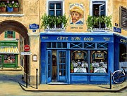 France Doors Painting Prints - Cafe Van Gogh II Print by Marilyn Dunlap