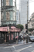 San Francisco Financial District Digital Art - Cafe Zoetrope  by Laura Wrede
