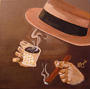 Espresso Paintings - Cafesito by Brenda Morgado