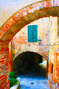 Brick Paintings - Caffe Degli Archi by Rob Tullis