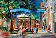 European Street Scene Paintings - Caffe della Dolce Vita by Sasha Sergeeff