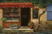 Red Cafe Posters - caffe Re Poster by Guido Borelli