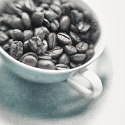 Lensbaby Close-up Posters - Caffeine Poster by Priska Wettstein