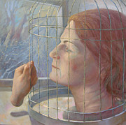 Cage Paintings - Caged by Alla Parsons