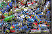Cans Digital Art Prints - Caged Cans Print by Randy Steele