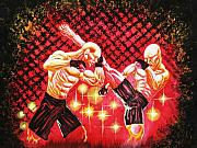 Ufc Paintings - Caged Combat by Larry Kincaid