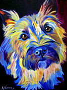 Dog Print Framed Prints - Cairn - Neiman Framed Print by Alicia VanNoy Call