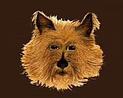 Domestic Dogs Painting Prints - Cairn Terrier Dog Print by Nan Wright