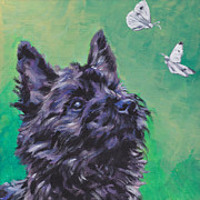 Brindle Metal Prints - Cairn Terrier Metal Print by Lee Ann Shepard