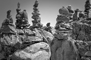Rock Pile Prints - Cairns Print by Eric Gendron