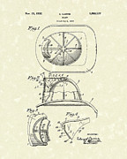 Patent Drawing Framed Prints - Cairns Helmet 1932 Patent Art Framed Print by Prior Art Design