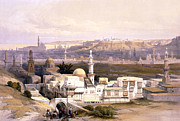 Roberts Drawings - Cairo from the gate of Citizenib  looking toward the desert of Suez by Munir Alawi