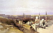 Roberts Drawings - Cairo from the West by Munir Alawi